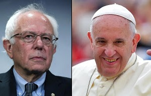Bernie Sanders and Pope